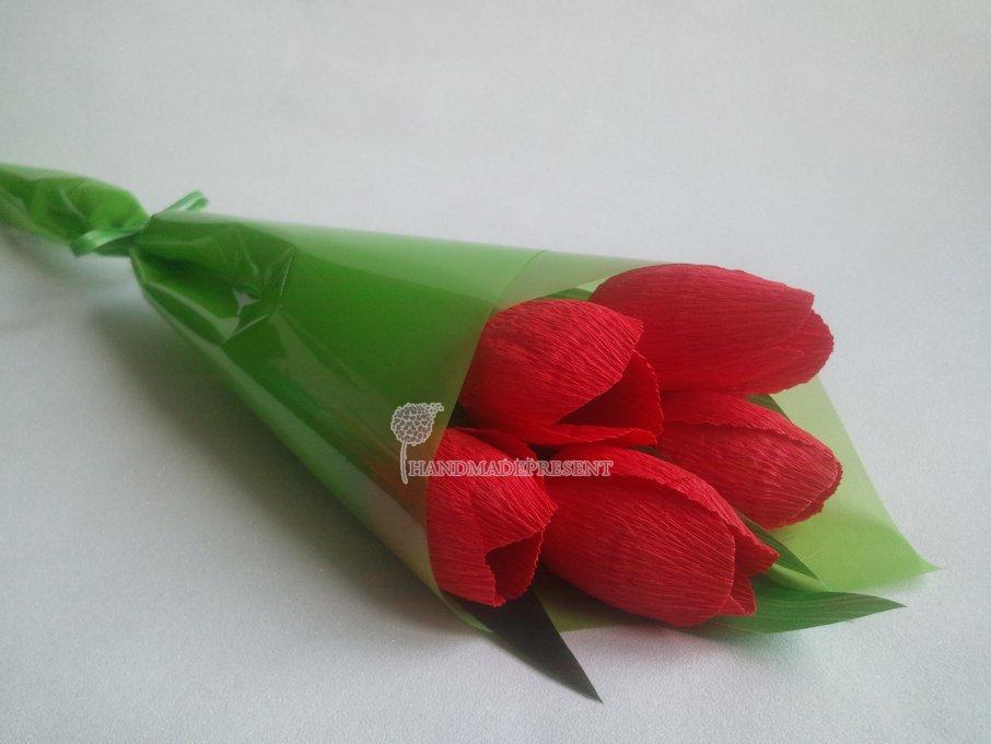Тюльпаны из конфет своими руками фото